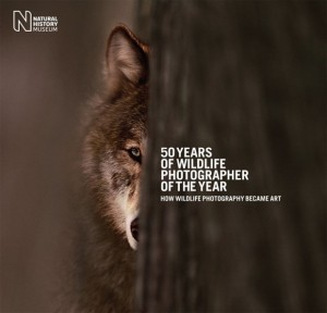 "Omslaget till ""50 Years of Wildlife Photographer of the Year""."