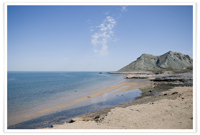 Khezr Beach i Iran. Foto: Nima Fatemi via Flickr https://www.flickr.com/photos/parapet/