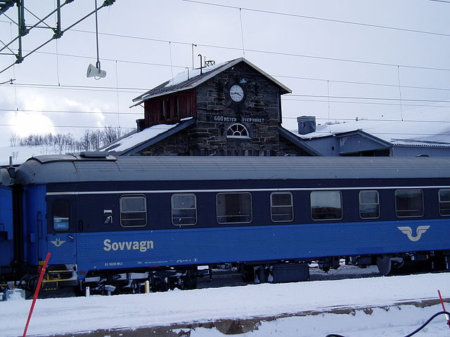 SJ:s nattåg i Storlien. Foto: Kildor - Own work, CC BY 3.0, https://commons.wikimedia.org/w/index.php?curid=6006446